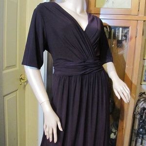 Evan Picone Dark Purple Dress 18W